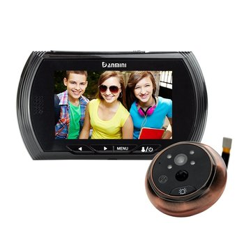Danmini YB-43AHD-M 4.3 Inch Hidden Electronic Cat Eye Night Vision Motion Detection Camera Doorbell No Disturb Peephole Viewer