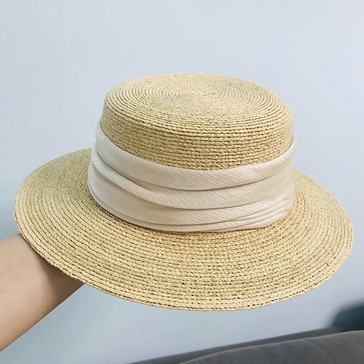 2020 New In Raffia Handmade Summer Sun Hat Beach Hat For Women