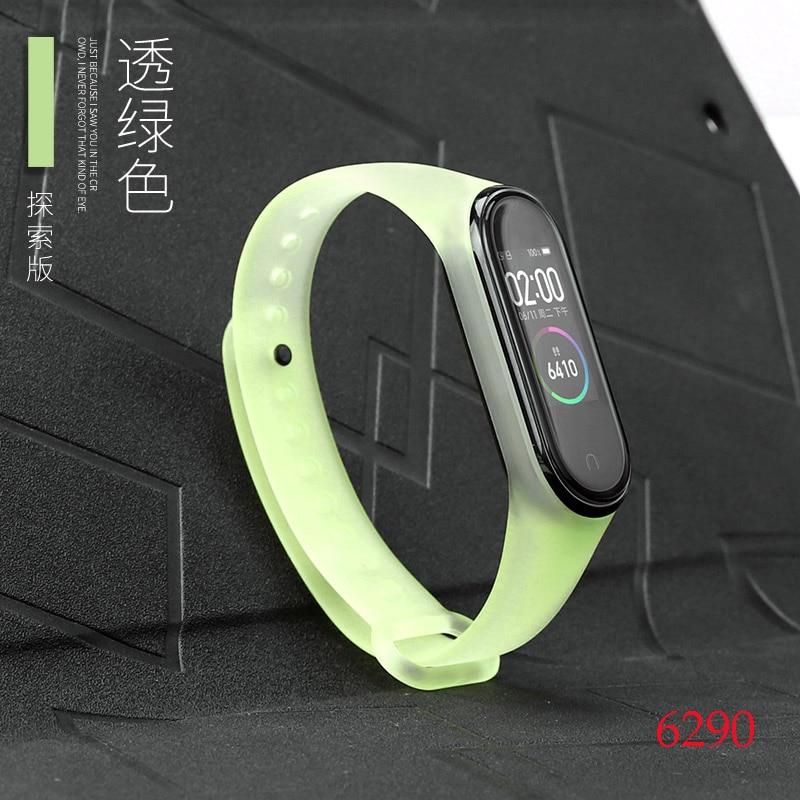 Для Xiaomi Mi Band 4/3 ремешок Металлическая пряжка силиконовый браслет аксессуары miband 3 браслет Miband 4 ремешок для часов М - Цвет: 6290