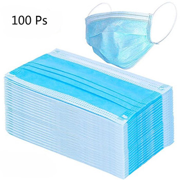 100pcs  Disposable Protective Mask Anti-dust Anti-pollution Bacterial Proof Face Facial Cover PPE Personal Protective Equipment