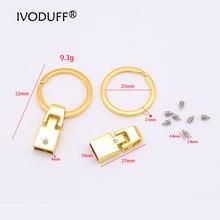 5x брелок для ключей из цинкового сплава фурнитура 10 мм изготовления