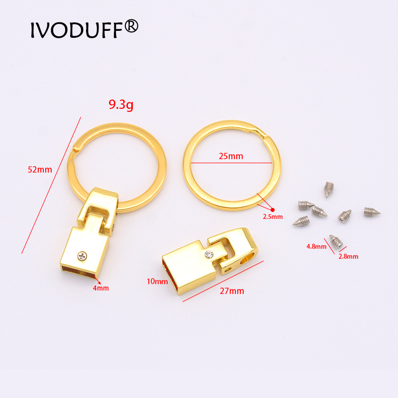 Ivoduff 3x Key Fob Multiple Colour With Screw Keychain Split Ring For 10mm  Wrist Wristlets Tail Clip