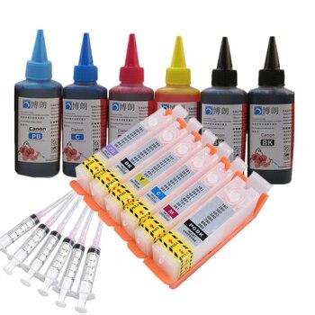 6 ink refill kit for PGI 580 CLI 581 cartridge  For CANON PIXMA TS8150/TS8151/TS8152/TS8250/TS8251/TS8252/TS9150/TS9155