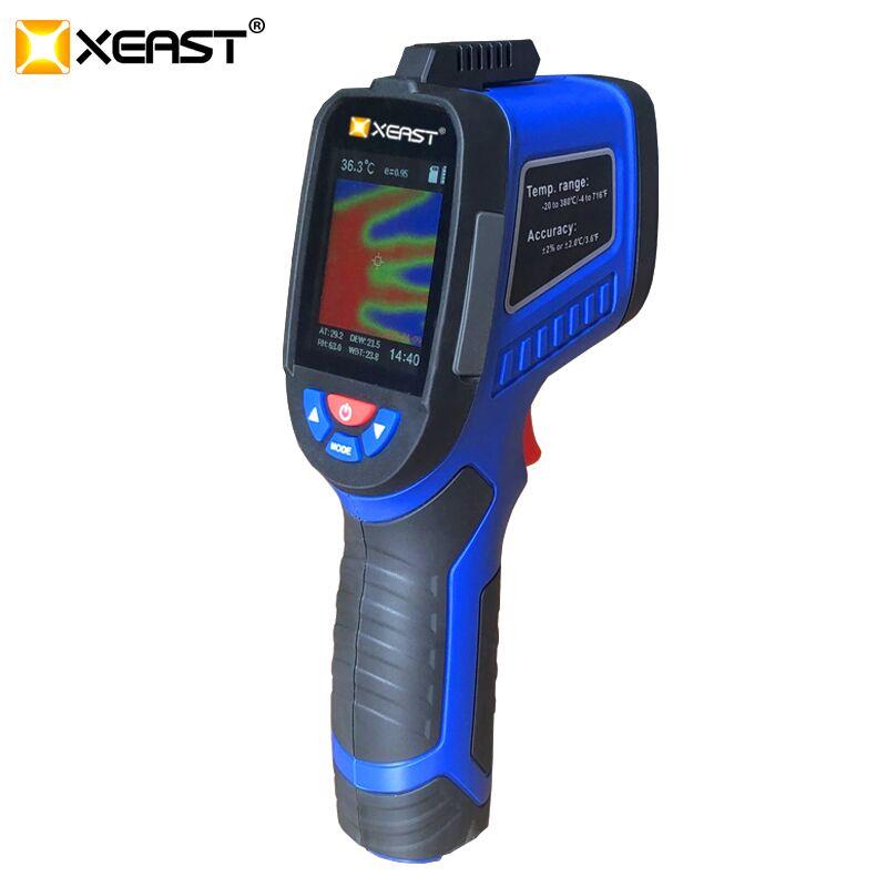 2020 schnelle lieferung XEAST XE-27 messen kann menschlichen körper temperatur, feuchtigkeit infrarot kamera, 3 in 1 multi-zweck LCD bildschirm