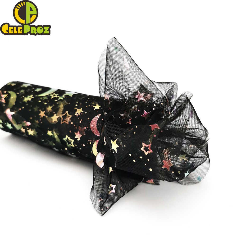 8 ซม.10 ซม.12 ซม.Glitter Star Moon Tulle ม้วนตาข่ายริบบิ้น DIY Tutu POM Bow นุ่ม Squine ผ้า 8 ซม.10 ซม.12 ซม.เย็บผ้า SUPPLY