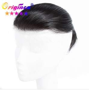 Originea 100%Human-Hair Wig Toupee Hair-System Topper Lace for Swiss Straight Brazilian