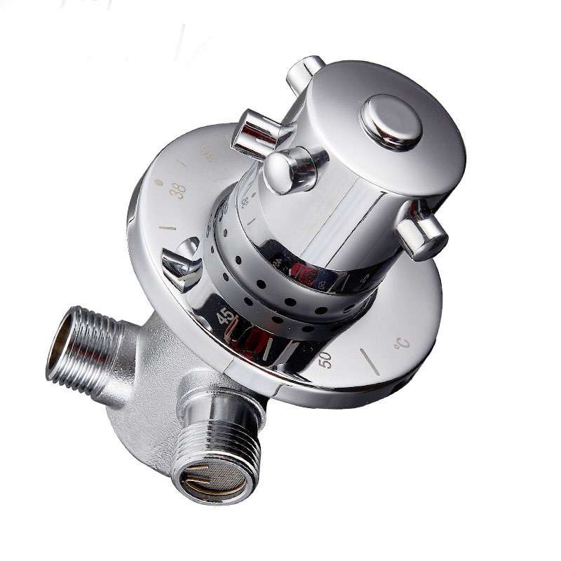 """Automatic Thermostatic Mix Valve Water Shower Control Valve Male DN25 1/"""""""