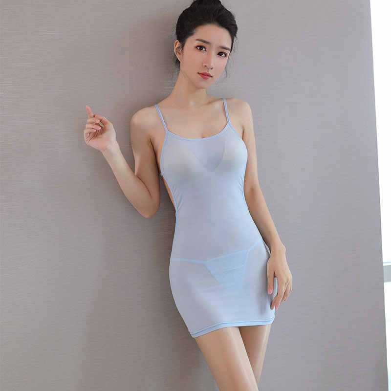 Sexy Wanita Stripe Perban Mikro Mini Gaun Sutra Es Tipis Ketat Pensil Lucu Gaun Bodycon Club Backless Mini Gaun Permen warna