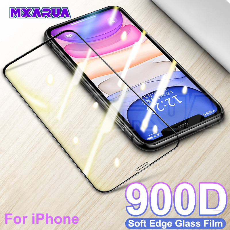 900D Full Cover Protective Tempered Glass On For IPhone 7 8 6 6S Plus Screen Protector For IPhone 11 Pro X XR XS Max Glass Film