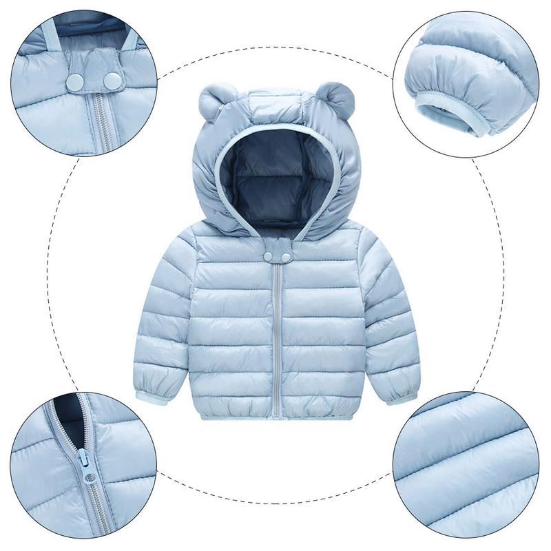 2019  Autumn Winter Cute Warm Coats For Kids With Hoods Puffer Jacket Baby Boys Girls Coat