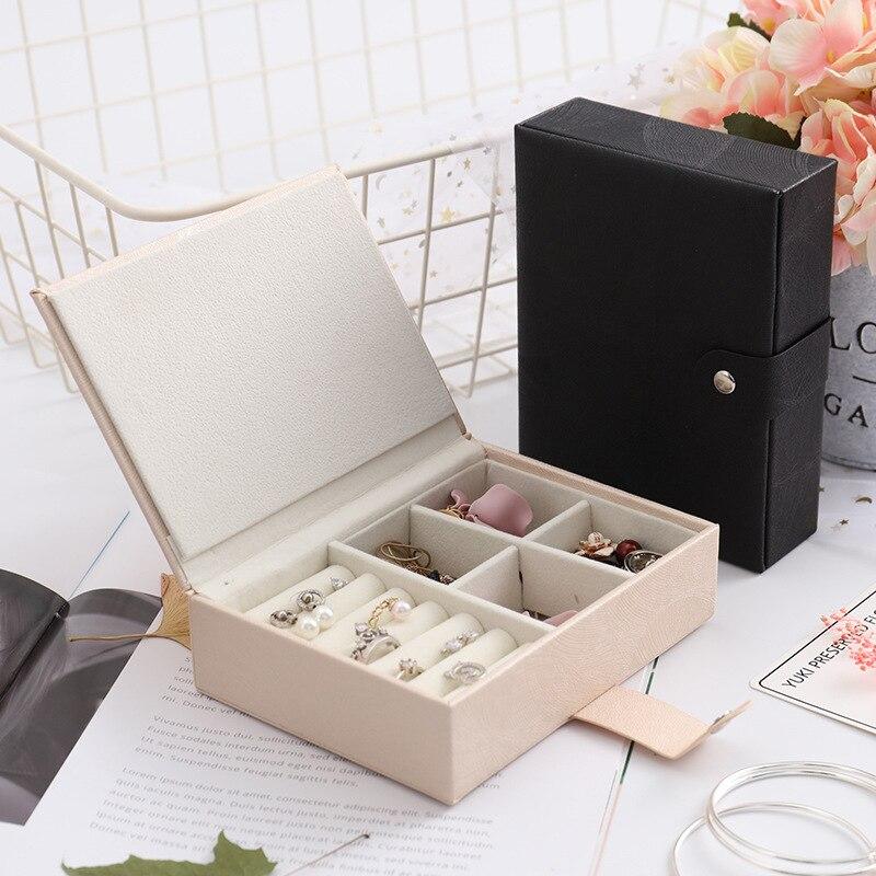 Fashion Pu Hide Substance Magnetic Snap Single Layer Storage Box Large Capacity Multi-functional Storage Gift Jewelry Box Manufa