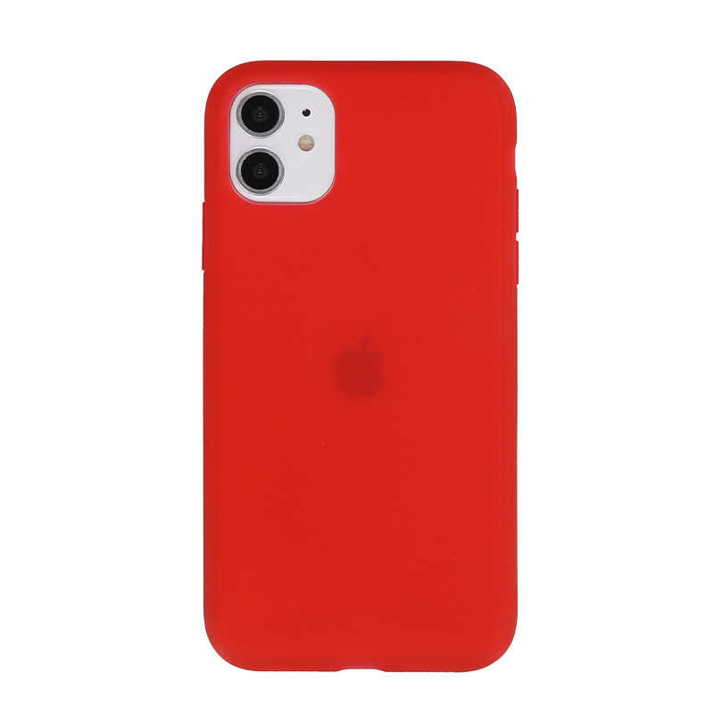 Capa de silicone de látex fosco claro da cor dos doces para o iphone 11 pro max xr xs x + 7 8 plus se2 6 6 s anti-knock cute coques