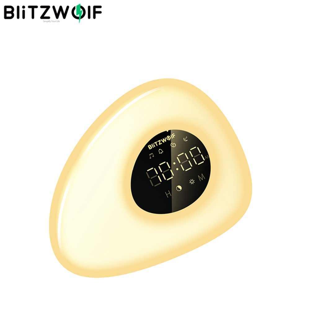 BlitzWolf BW-LT23 برو الاستيقاظ ضوء ساعة تنبيه الطبيعية مع شروق الشمس وغروب الشمس وضع اللمس الذكية ملون للتحكم عكس الضوء ليلة مصباح