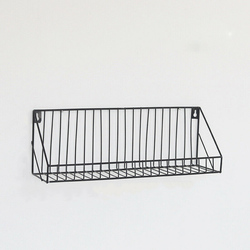 Industrial Metal Shelves Wire Floating Space Saving Wall Mounted Shelf Multi-function  Rooms Home Office/Study Storage Rack