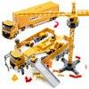 Legering Techniek Voertuig Met Geluid En Licht Parkeerplaats Auto Set Truck Speelgoed Voor Jongen Bulldozer Graafmachine Kraan Kid Xmas gift