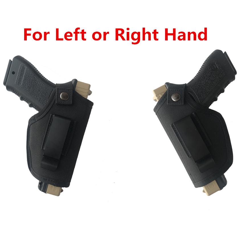 Tactical Concealed Carry Pistol Holster Holder Gun Holster Bag Belt With Metal Clip For Right Hand Or Left Hand Draw