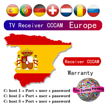 TV receiver CCCAM Clines for Europe spain Portugal Germany Poland Satellite tv Receiver FULL HD DVB-S2 Support 3/5 Lines Ccam