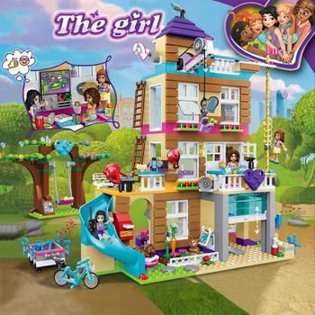 Freunde Freundschaft Haus Set Bausteine Bricks Kompatibel legoinset 41340 Spielzeug für kinder Mädchen Pädagogische Geschenke