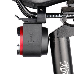 Image 5 - LED USB Rechargeable Rear Bike Light Auto Brake Detected Bicycle Tail Lamp Wireless Remote Control Cycling Taillight Alarm Bell