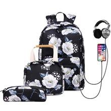 Floral Girls Backpack for School Lightweight Bookbags Satchel College Bags Teen Girls Kids School Bag Set Women Travel Daypack cheap STUNGRISH NYLON zipper STUNGRISH-BACKPACK 0091 30cm School Bags 14cm nylon fabric 43cm 0 85kg school backpacks backpacks for school