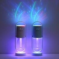 USB портативный увлажнитель воздуха с мультипликационным распылителем, Ароматический диффузор для дома и офиса, освежающий светодиодный пр...