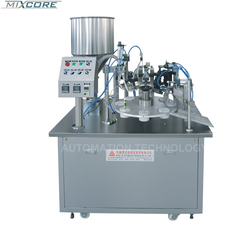 CE FGF-5  Stainless Steel 50-200 ML Button Control Soft Tube Filling&Sealing Machine