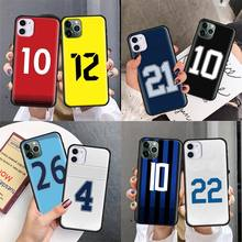 Silicone Case Cover for iPhone 11 Pro X XS XR Max 8 7 6 6S 5E 5S 5 Plus 8+ 7+ 6+ 6S+ Phone Back Shell Number Football new iphone case for iphone 11 for iphone11 pro max 5 8 inches 6 1 inches 6 8 inches 6 6s 7 8 plus ix xr max x fashion back cover