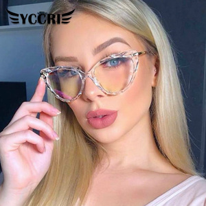 2020Square Women reading Glasses Frame Crystal Multi-section Brand Design Optical Computer oculos Glasses gafas de lectura mujer
