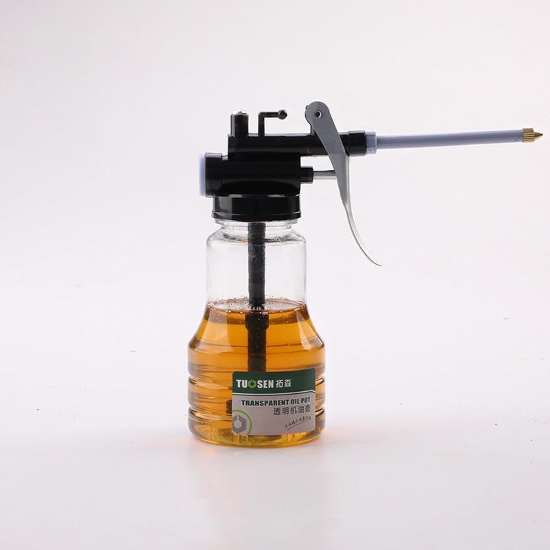 Grease Gun Oil Pump 250ml Oil Can Plastic Transparent Hose  High PressureLubricating Oil Plastic Machine Oiler Grease Flex Gun