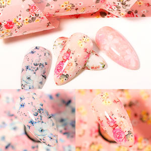 Nail-Foils-Set Nail-Art-Decorations Marble-Design Papers Wraps Spring-Transfer-Stickers
