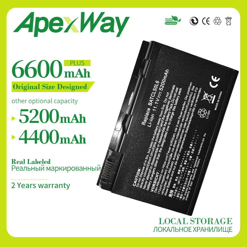 Apexway <font><b>Battery</b></font> for Acer Aspire 3100 3690 5100 5610 5630 5650 5680 9110 9120 <font><b>9800</b></font> Series BATBL50L6 BATCL50L6 BATBL50L4 BATCL50L image