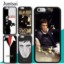 Juntsai Tony Montana Scarfaces Al Pacino Case For iphone 11 Pro MAX XR XS MAX X 5S SE 2020 6S 7 8 Plus Cover Coque