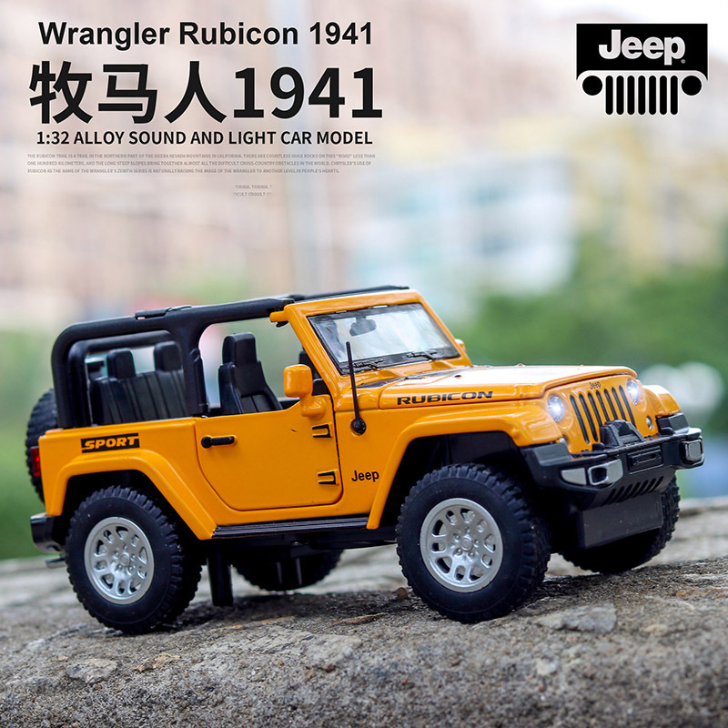 132 jeep wrangler rubicon veículo modelo carros de brinquedo alta simulação requintado fora de estrada liga coleção brinquedos carro para crianças