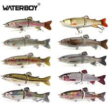 Waterboy 18cm 68g multi articulado isca de pesca swimbait 2 segmento glide s natação truta água doce lento pia isca de peixe