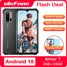 Ulefone Armor 7 Android 10 Rugged Phone Waterproof Smartphone NFC Helio P90 5G WIFI 6.3'' 8GB+128GB