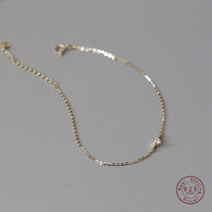 925 Sterling Silver Exquisite Crystal 14k Gold Bracelet Women Classic Temperament Party Jewelry Accessories Girlfriend Gift