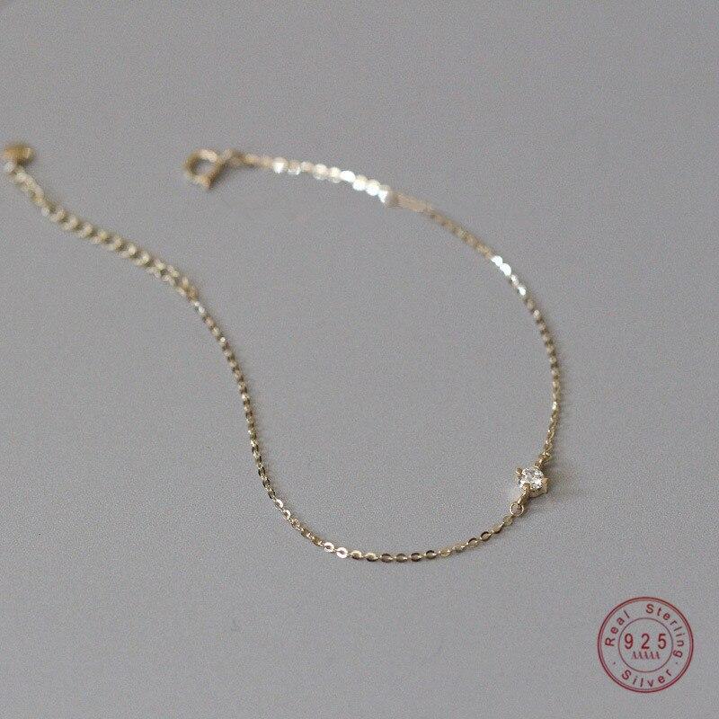 925 prata esterlina requintado cristal 14k pulseira de ouro feminino clássico temperamento festa jóias acessórios namorada presente