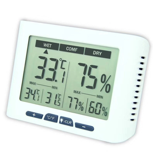 Image 2 - Backlight Calibrable Thermometer Hygrometer Digital Home Office Hospital Factory Greenhouse Living Room Temperature Humidity