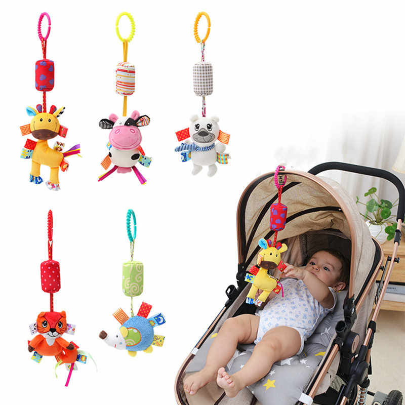 baby toys soft plush Animal Stroller Hanging Crib Mobile bed bell newborn rattle Wind chimes infant kids Educational sensory Toy