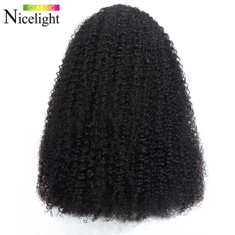360 Kant Frontale Pruiken Jerry Krullend Menselijk Haar Pruiken Braziliaanse Haar Remy Lace Pruik Nicelight 150% Dichtheid Lace Wig Voor zwarte Vrouwen