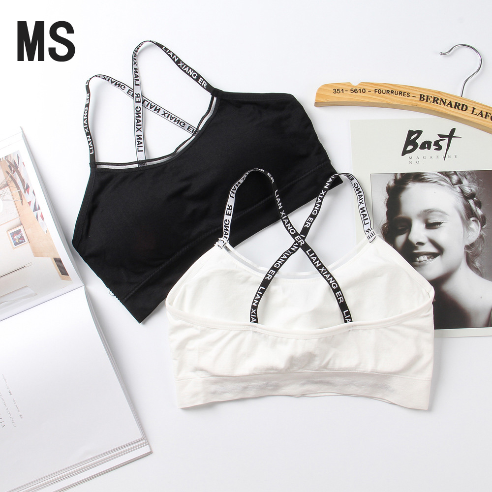 MS Sexy One-piece Seamless Seamless Straps Tube Top Wrapped Chest Anti-glare Ladies Sports Horizontal Strips Beauty Back