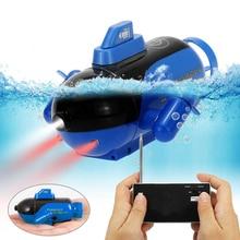Mini barco RC submarino de juguete submarino juguetes de baño Control remoto barco en bañera piscinas lagos barco regalos para niños