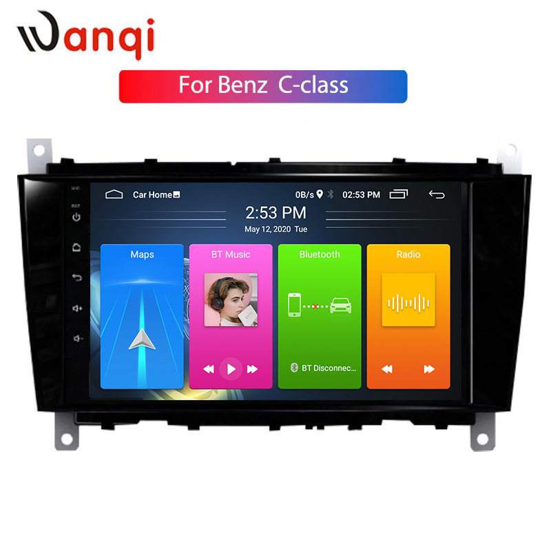 wanqi Android10 Car GPS Navigation For Benz C-Class <font><b>W203</b></font> (2004 2005 2006 2007) CLC G Class W467 (2008-2011) CD Player NO DVD image