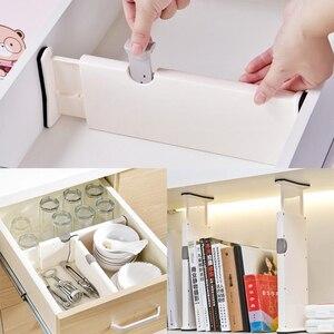 Adjustable DIY Drawer Divider Plastic Storage Shelf Organizer for Closet Wardrobe Bedroom Drawer Partitions Space-saving Tools