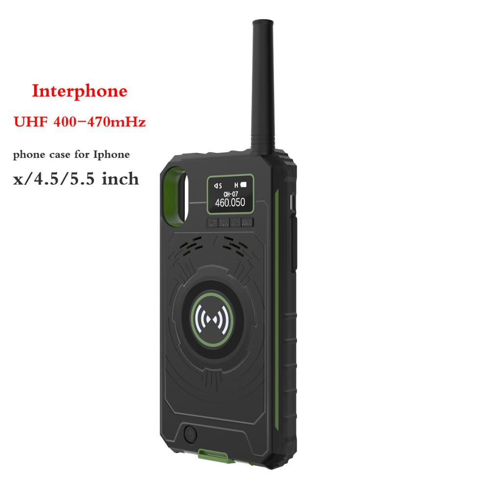 Walkie Talkie Station Radio Back Clip Intelligent Voice IP01 Portable Transceiver For Iphone 6plus 7plus 8pus