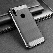 Case For Xiaomi Redmi Note 7 Pro Cases Silicon TPU Carbon Fiber Soft Silicone Coque Funda