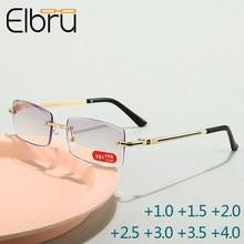 Getrimmt Anti-blau Licht Lesebrille Blockieren Randlose Frauen Männer Platz Rahmenlose Presbyopie Brille + 1,0 1,5 2 2,5 3 3,5 4,0