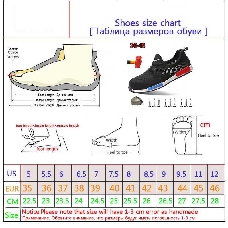 Mannen Stalen Neus Veiligheid Schoenen Ademend Lichtgewicht Schoenen Zomer Anti-Verpletteren Werk Ponsen Sandalen Enkele Mesh Sneakers