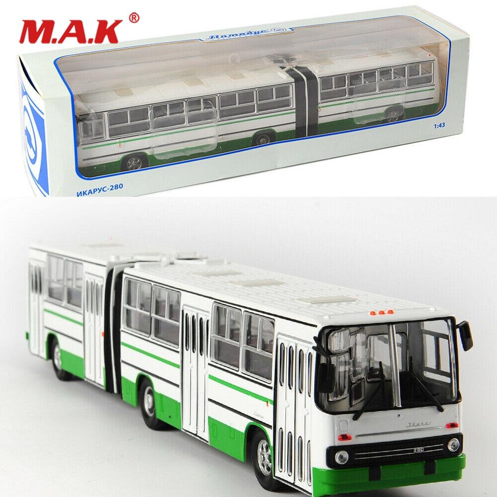 Kid Model Toys for Boys 1/43 Diecast Alloy Soviet Russia Car Model Green Double-decker Bus IKarus-280 Model In Stock