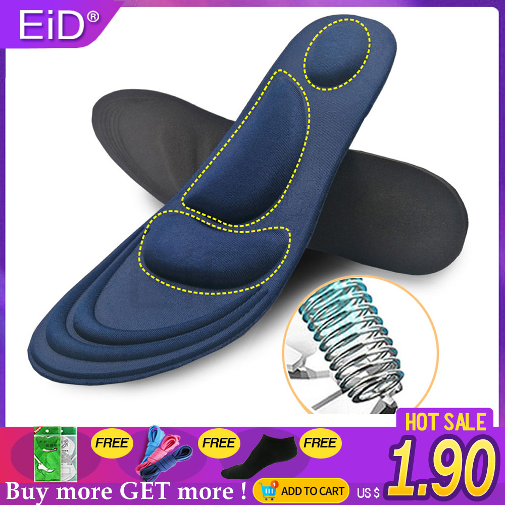 EiD 4D Stretch Breathable Deodorant Running Cushion Insoles For Feet Man Women Insoles For Shoes Sole Orthopedic Pad Memory Foam